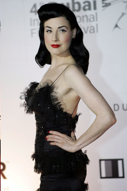 While Betty was famously bottle blonde, Dita – naturally a mousey ... Dita